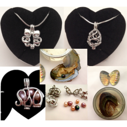 Extract a Pearl Pendant Necklace Set Assorted Design