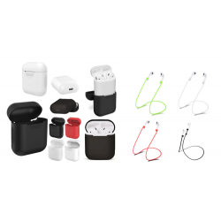 For Airpods: Silicone Protective Cover and/or Strap